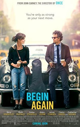 Image result for begin again movie poster