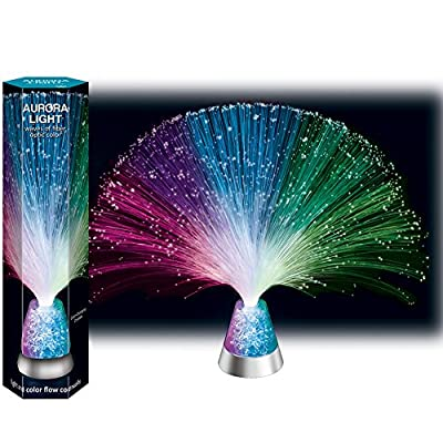 Fiber Optic Aurora Light With Rainbow Color Changing Threads And Crystals