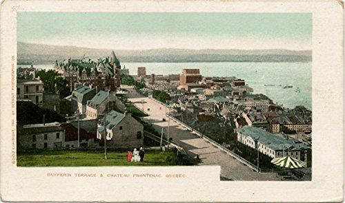 Historic Pictoric Postcard Print | La Terasse, Dufferin St, Chateau Frontenac, Quebec, P. Q, 1902 | Vintage Fine Art ()
