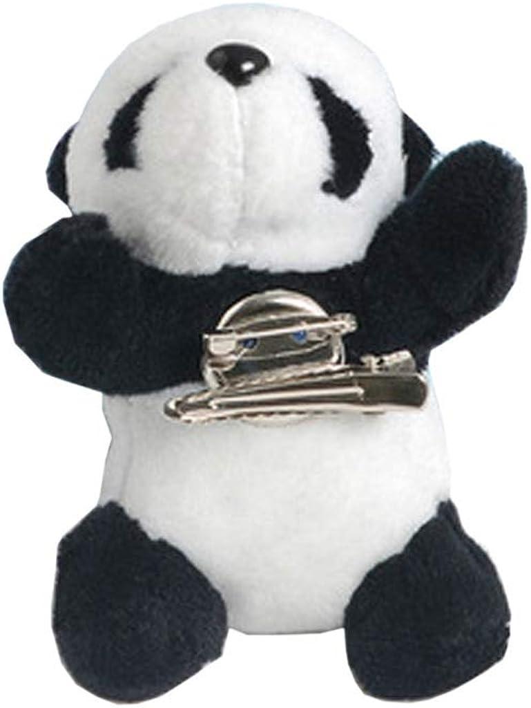 Amarzk Cute Furry Panda Brooch Pin Bear Animal Hairpin Dag