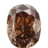 0.33 Ct Natural Loose Diamond Cut Oval Shape Brown Color 4.39X3.40X2.54 MM I1 Clarity N5178