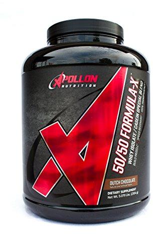 Formula Dark Chocolate - Apollon Nutrition 50/50 Formula-X | Whey Isolate and Casein Protein | 5 lb (Dutch Chocolate)