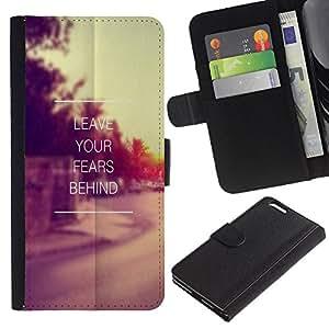 KingStore / Leather Etui en cuir / Apple Iphone 6 PLUS 5.5 / Los temores dejar atrás Sunset Vignette