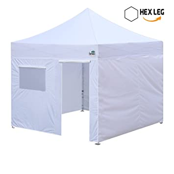 Eurmax Premium 10 X 10 Pop up Canopy Commercial Grade Aluminum Foot Legs with 4 Removable  sc 1 st  Amazon.com & Amazon.com : Eurmax Premium 10 X 10 Pop up Canopy Commercial Grade ...