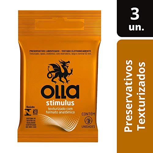 Preservativo Lubrificado Stimulus, Olla, Pacote de 3
