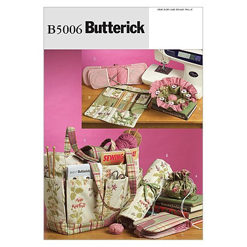 BUTTERICK PATTERNS B5006 Sewing and Knitting Tote and Accessories, One Size Only