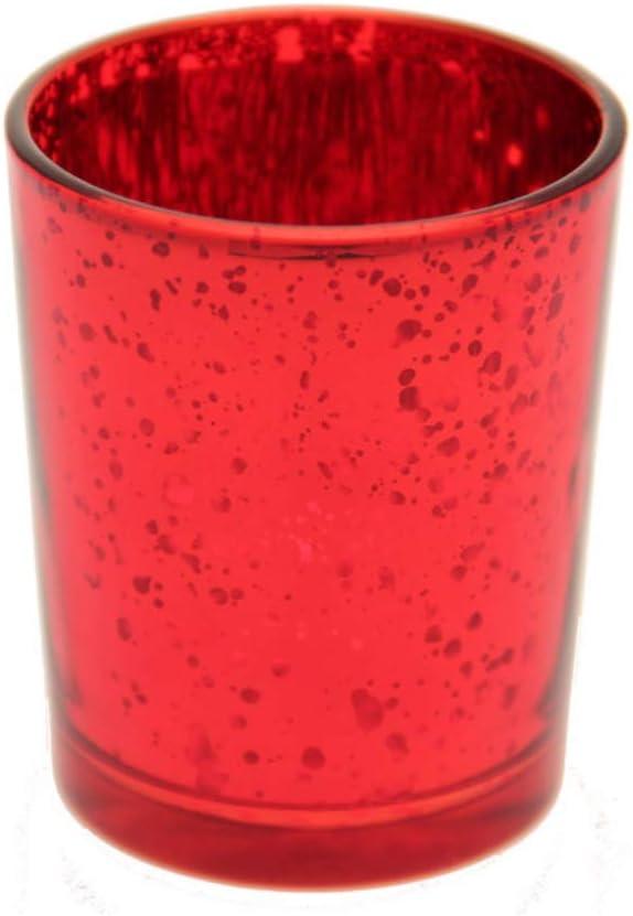 Style antique Bougies votives et de table pour travaux manuels Photophore en verre rouge