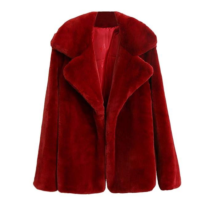 Linlink Mujeres Invierno Caliente Gruesa Abrigo sólido Abrigo Outercoat Chaqueta Cardigan Coat Outwear: Amazon.es: Ropa y accesorios