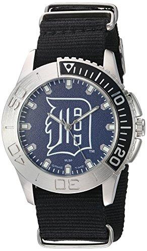 Game Time Men's 'Starter'  Metal and Nylon Quartz Analog  Watch, Color:Black (Model: MLB-STA-DET) ()