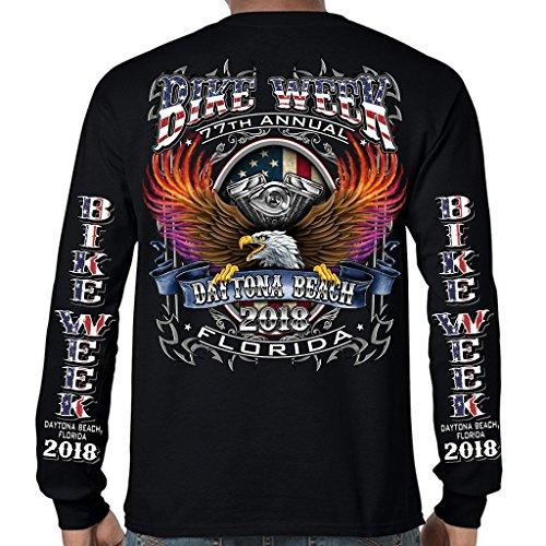 Biker Life USA 2018 Bike Week Daytona Beach B-Strong Long Sleeve T-Shirt (Daytona Bike Week 2018)