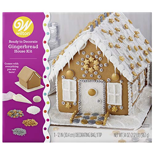 Wilton Ready-to-Decorate Dazzling Gingerbread House Decorating -