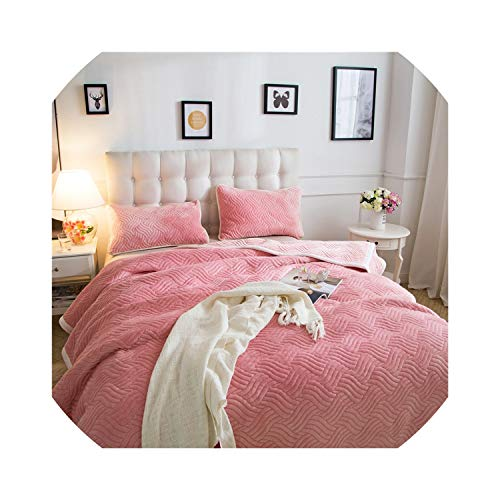 (Bedspread Warm Soft Gold Velvet Blankets Double Layer Thick Plush Throw on Sofa Bed Plane Pl Solid Bedspreads Home Textile)