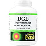 Natural Factors Dgl Licorice Chewable, 400mg, 180 Count