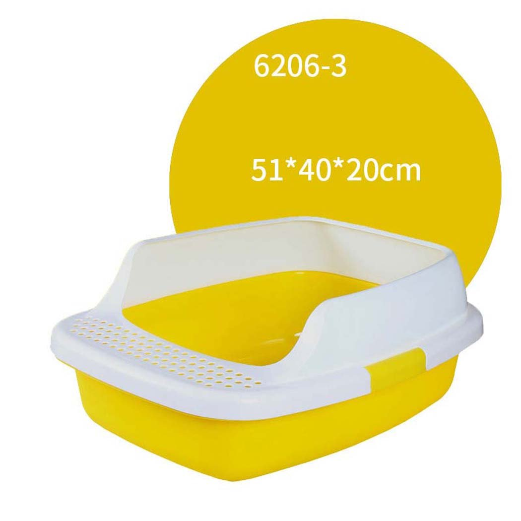 Cat Litter Box High Sided Rim Cat Toilet; Cat Litter T s -self Cleaning (Colore: 606 -3)