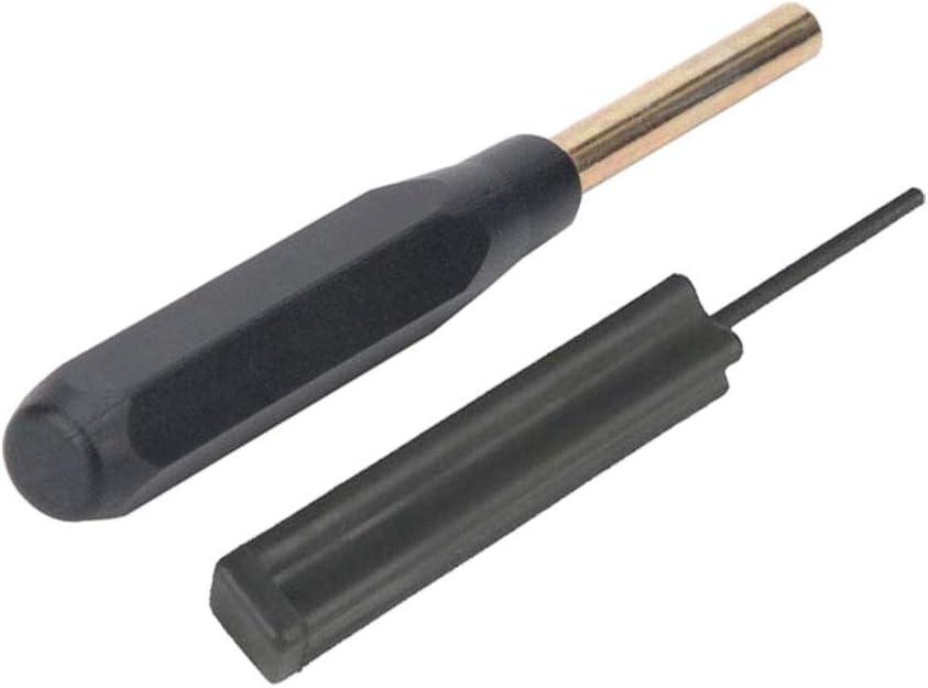 VORCOOL Herramientas de instalación de la vista frontal armeros desmontan herramientas de desmontaje para glock (negro)