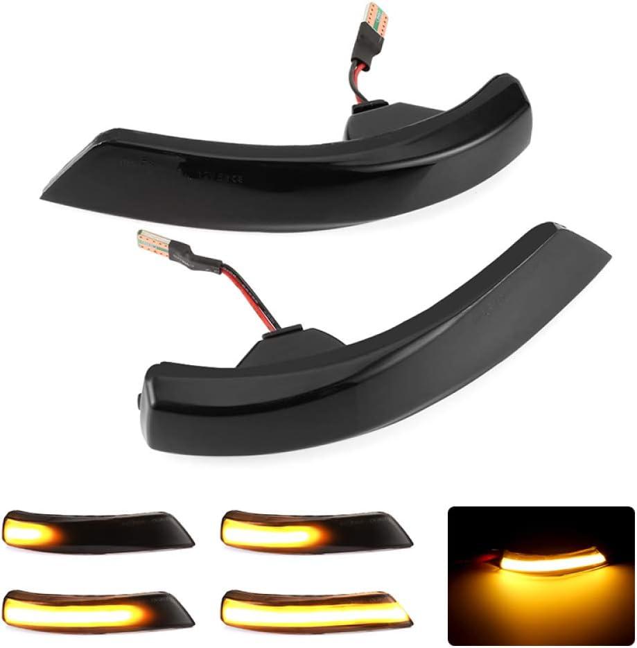 BYWWANG 2pcs LED Side Wing Rearview Mirror Indicator Blinker Light,For Ford Focus 2 3 Mk2 Mk3 Mondeo Mk4