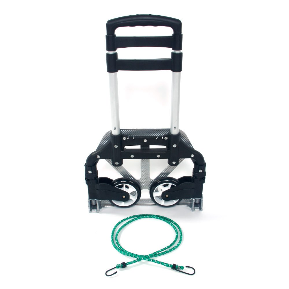 WisHome Portable Folding Collapsible Aluminum Cart Dolly Push Truck Trolley Black by WisHome (Image #1)