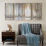 Forest Reflections Gel Coated Canvas Set of 3 Multi