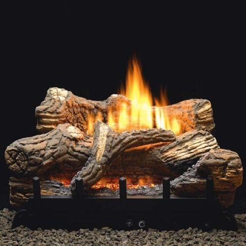 Hill Gas Log Set With Vent Free Propane Contour Burner - Manual Safety Pilot ()