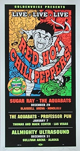 Red Hot Chili Peppers Concert Poster - 4
