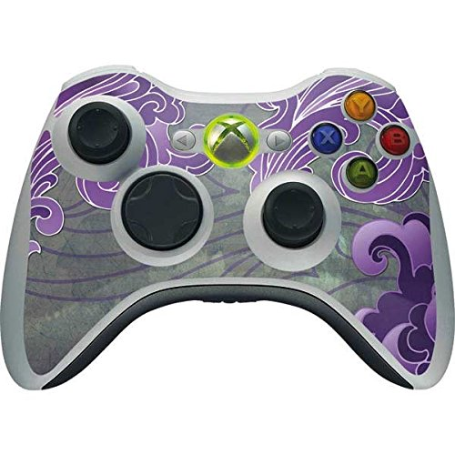 Patterns Xbox 360 Wireless Controller Skin - Purple Flourish Vinyl Decal Skin For Your Xbox 360 Wireless Controller