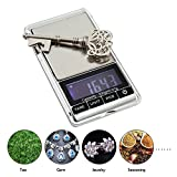 Digital Pocket Scale, Smart Weigh Scale High Precision Electric Jewelry Scale, Mini Portable LCD Gram Weight Balance Scale, 300g/0.01g, Black