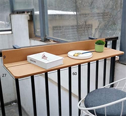 Colgante Balcón Bar Patio Barandilla Comedor Mesa Plegable Jardín Patio Muebles Mesa Ajustable Imitación Madera Colgante Balcón Mesa Para Balcones,Beige,27 * 100cm: Amazon.es: Hogar