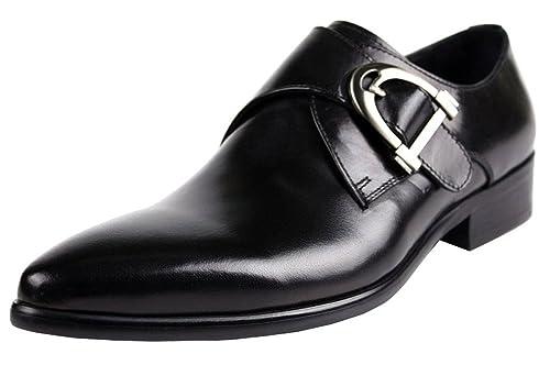 Wuf Chaussures À Boucle de ville Homme en cuir habillées De
