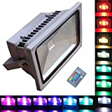 TDLTEK 20W RGB Color Changing LED Flood Light /Spotlight/Landscape Lamp/Outdoor Security Light With[ Memory Function] and [Remote Controller]