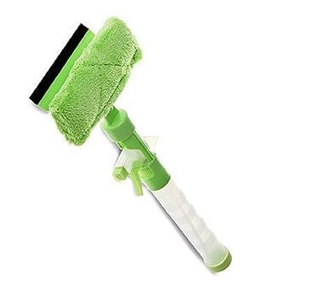 Todo en Uno limpiacristales ventana limpiaparabrisas con botella de pulverización desmontable y paño de limpieza de