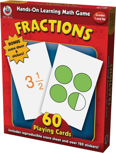 Hands-On Learning Fractions Card Game (Hands-On Learning Math Games) by Frank Schaffer