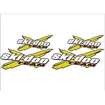 SKI-DOO Team 3DX 4 PACK Vinyl Vehicle Snowmobile Winter Sports Graphic Sticker Decals PINK