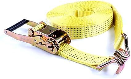 cinghia di fissaggio cinghia con cricchetto 10m 2500//5000 kg 2x Cinghia di tensione 2,5//5,0 t a due sezioni