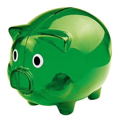 eBuyGB Transparent Plastic Piggy Bank / Money Box