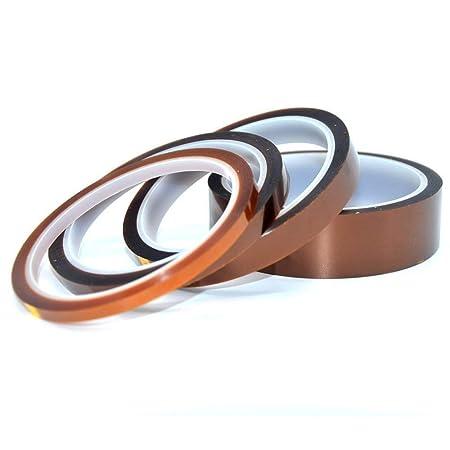 LEEQ - Cinta adhesiva de alta temperatura resistente al calor, 4 ...