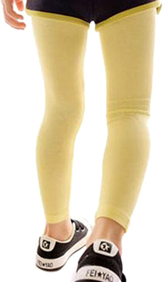 Comemall Kids Girls Bird Embroidery Tight Stretch Leggings Pants