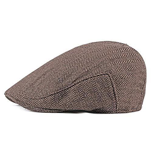 - Hat Men Cotton Herringbone Flat Cap Tweed Newsboy Harris Ivy Vintage Gatsby Classic Duckbill Irish Cap Army Peaked Cap llhyq (Color : 2, Size : Free Size)