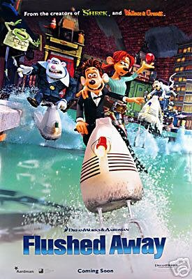 (Flushed Away Intl Double Sided Original Movie Poster 27x40)