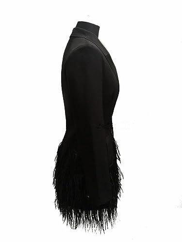 THWS Abrigos mujer traje largo estilo de vestir ropa con flecos anorak bi