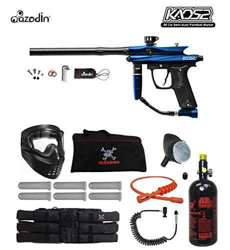 MAddog Azodin KAOS 2 Corporal HPA Paintball Gun Package - Blue/Black ()
