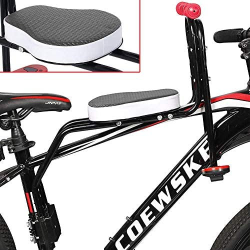 Adjustable Front Bike Seat Child Bicycle Safety Chair Carrier for 1-6 Year Kids