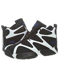 Reebok Kamikaze I Mid Basketball Shoe - White/Black/Blue - Boys - 6.5