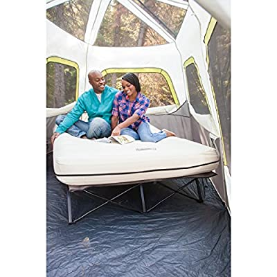 Coleman Queen Airbed Folding Cot with Side Tables and 4D Battery Pump