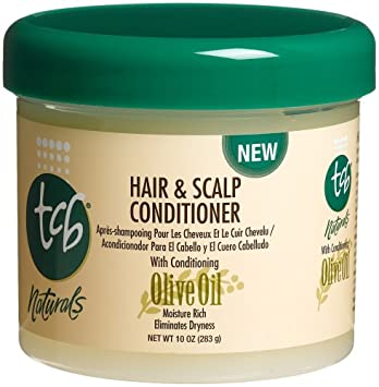TCB Naturals Hair Scalp Conditioner, Olive Oil, 10-Ounce Jars Pack of 6