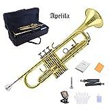 Apelila Gold Trumpet Brass Standard Bb