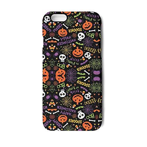 Halloween Pumpkin Skull Phone Case for iPhone 7 iPhone 8 TPU Anti-Fingerprint Anti-Scratch Fashionable Glossy Soft Anti Slip Thin Shockproof -