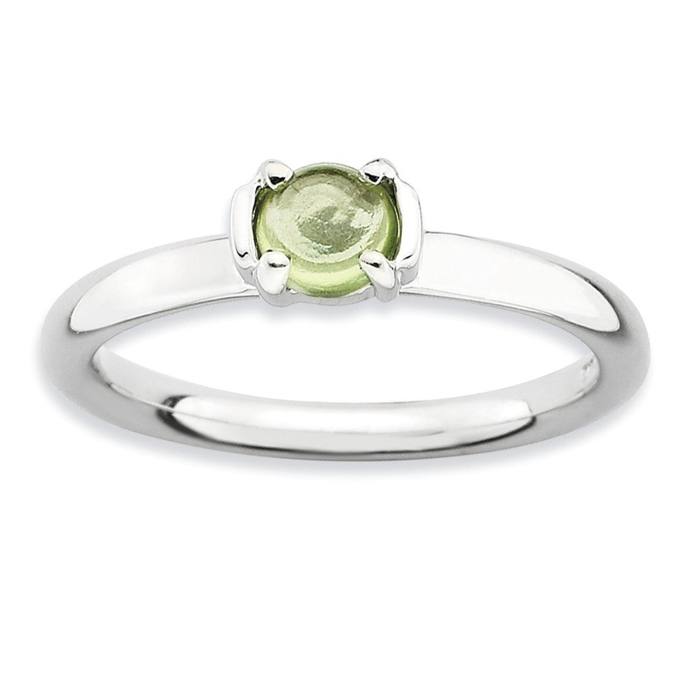 Top 10 Jewelry Gift Sterling Silver Stackable Expressions Polished Peridot Ring