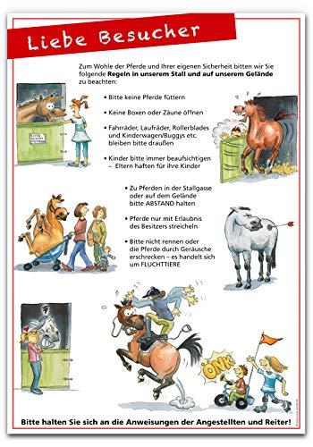 Plakat 'Liebe Besucher' DIN A3 Stallregeln Grafische Anstalten Hassa & Karl