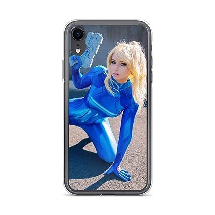 Amazon Com Samus Aran Cosplay Girl Shockproof Clear Case