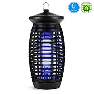 Electric Indoor Bug Zapper Electronic Insect Killer Fly Mosquito Killer with 120V UV Light Trap / 500 Sq Ft Coverage, Suits for Indoor Home Office Store Garden Patio Backyard [2018 UPGRADED]